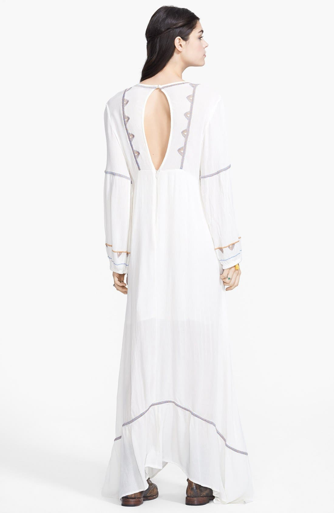 Alternate Image 2  - Free People 'Desert Winds' Embroidered Maxi Dress