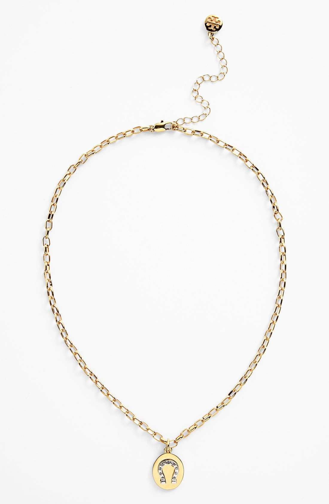 Alternate Image 2  - Tory Burch 'Sylbie' Horseshoe Charm Necklace