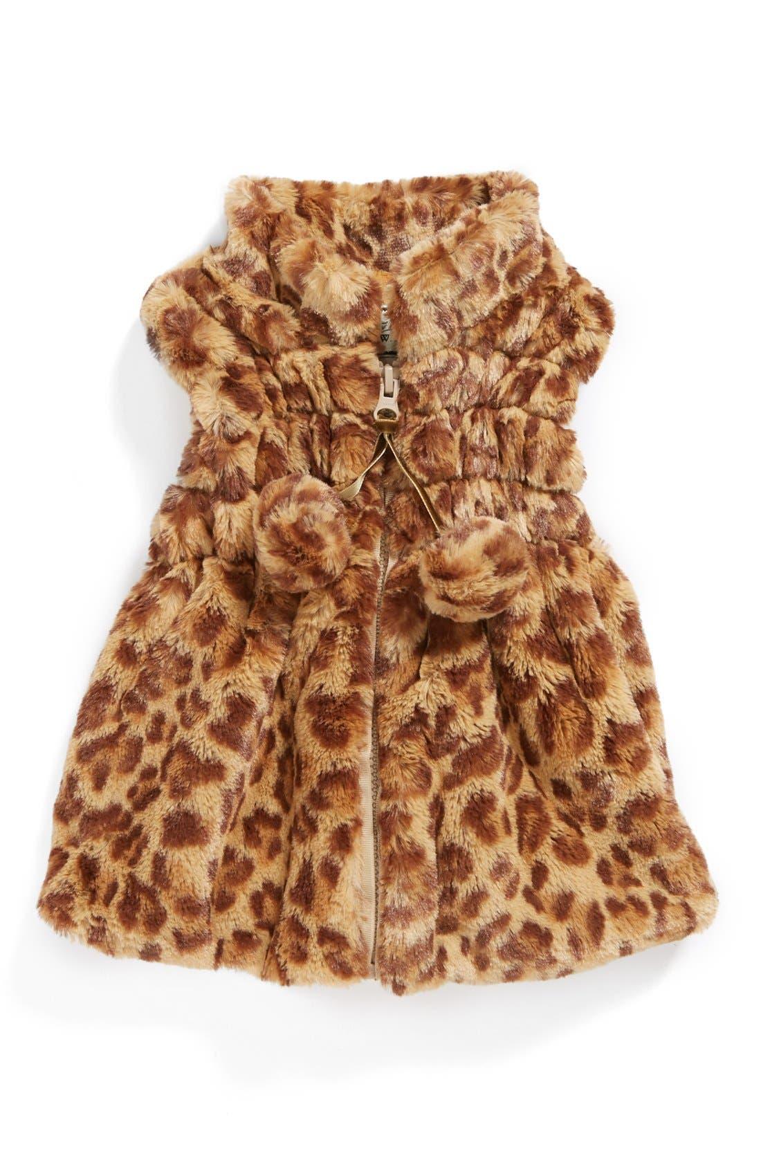 Main Image - Widgeon Faux Fur Vest (Baby Girls)