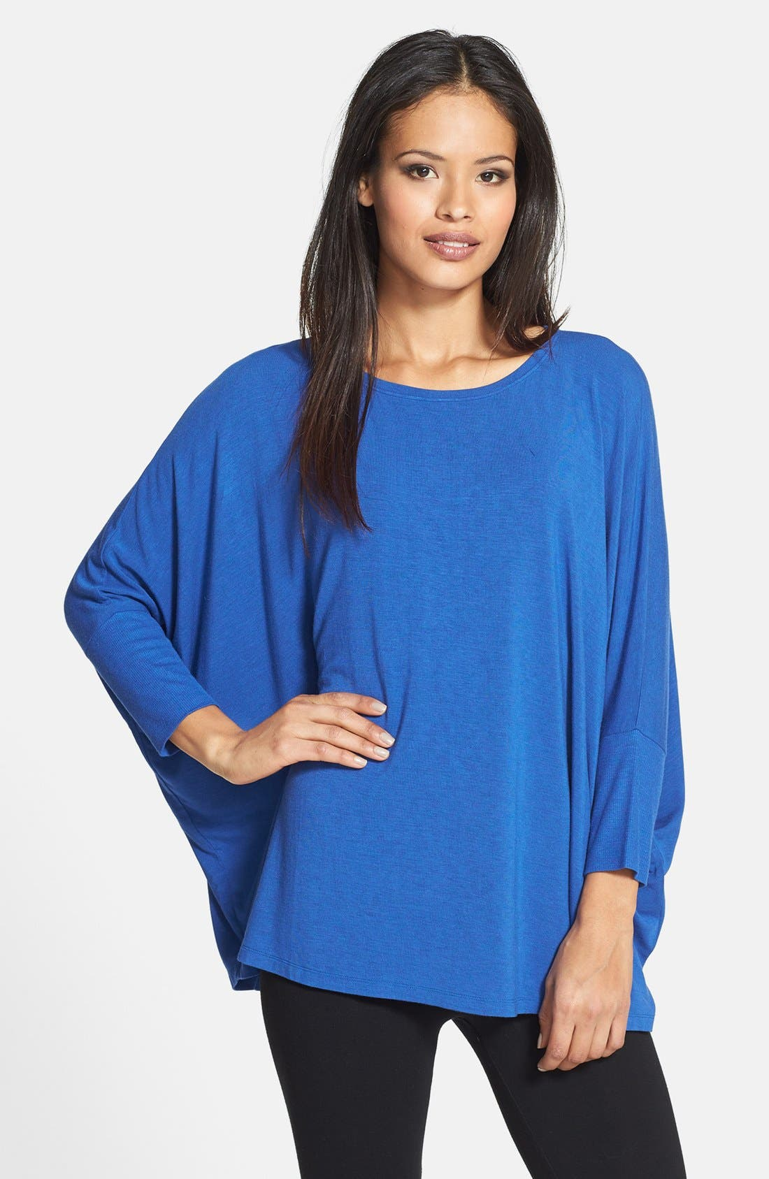 Alternate Image 1 Selected - Eileen Fisher Scoop Neck Boxy Top