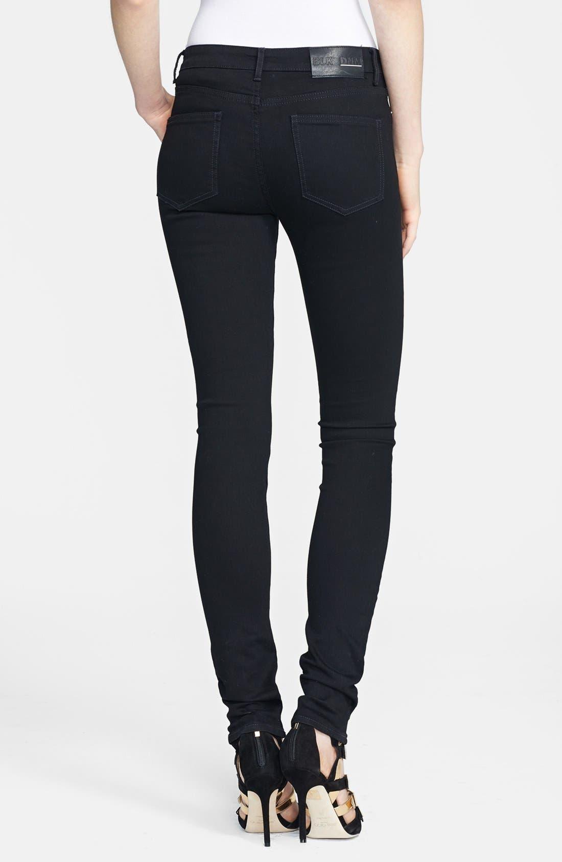 Alternate Image 2  - BLK DNM Skinny Jeans (Monroe Black)