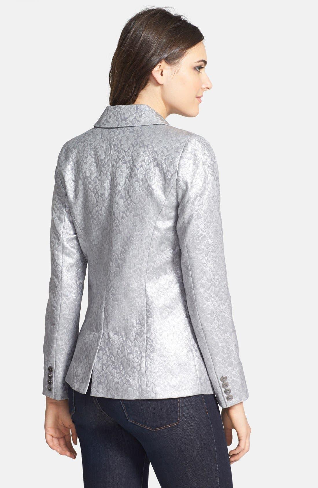 Alternate Image 2  - kensie Foil Brocade Jacquard Jacket