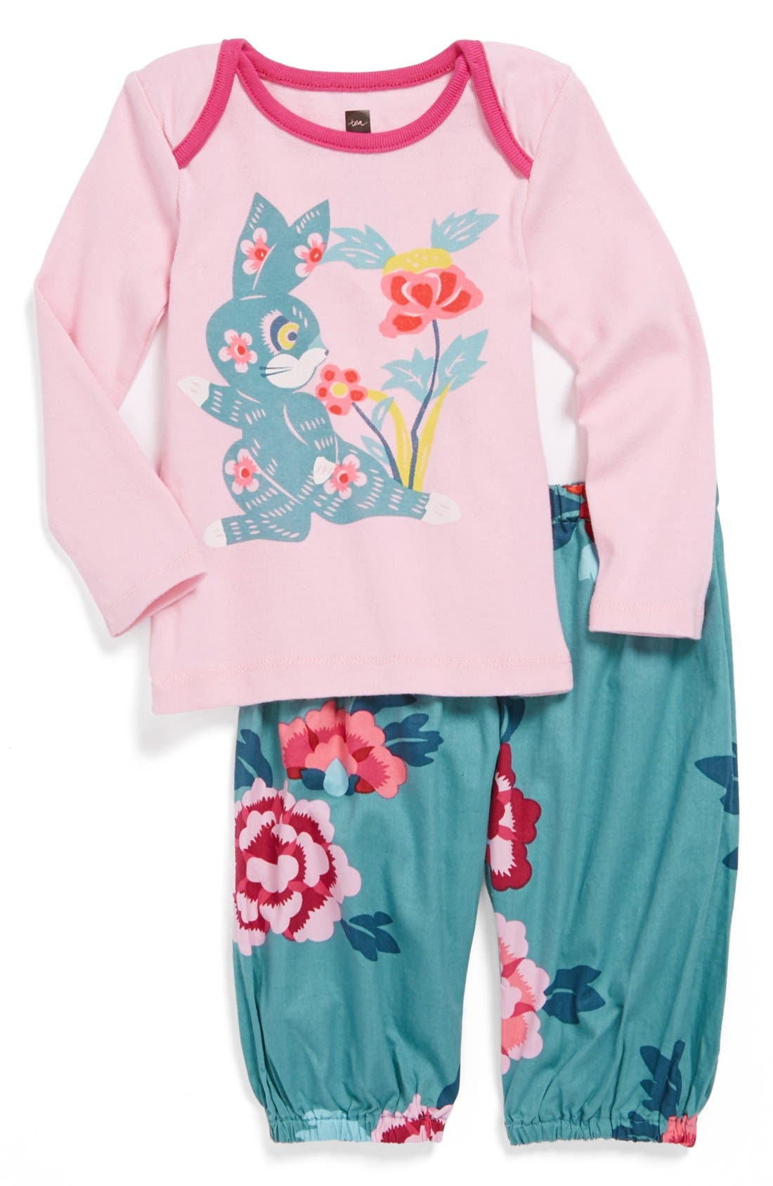 Main Image - Tea Collection 'Eastern Pop' Top & Pants (Baby Girls)