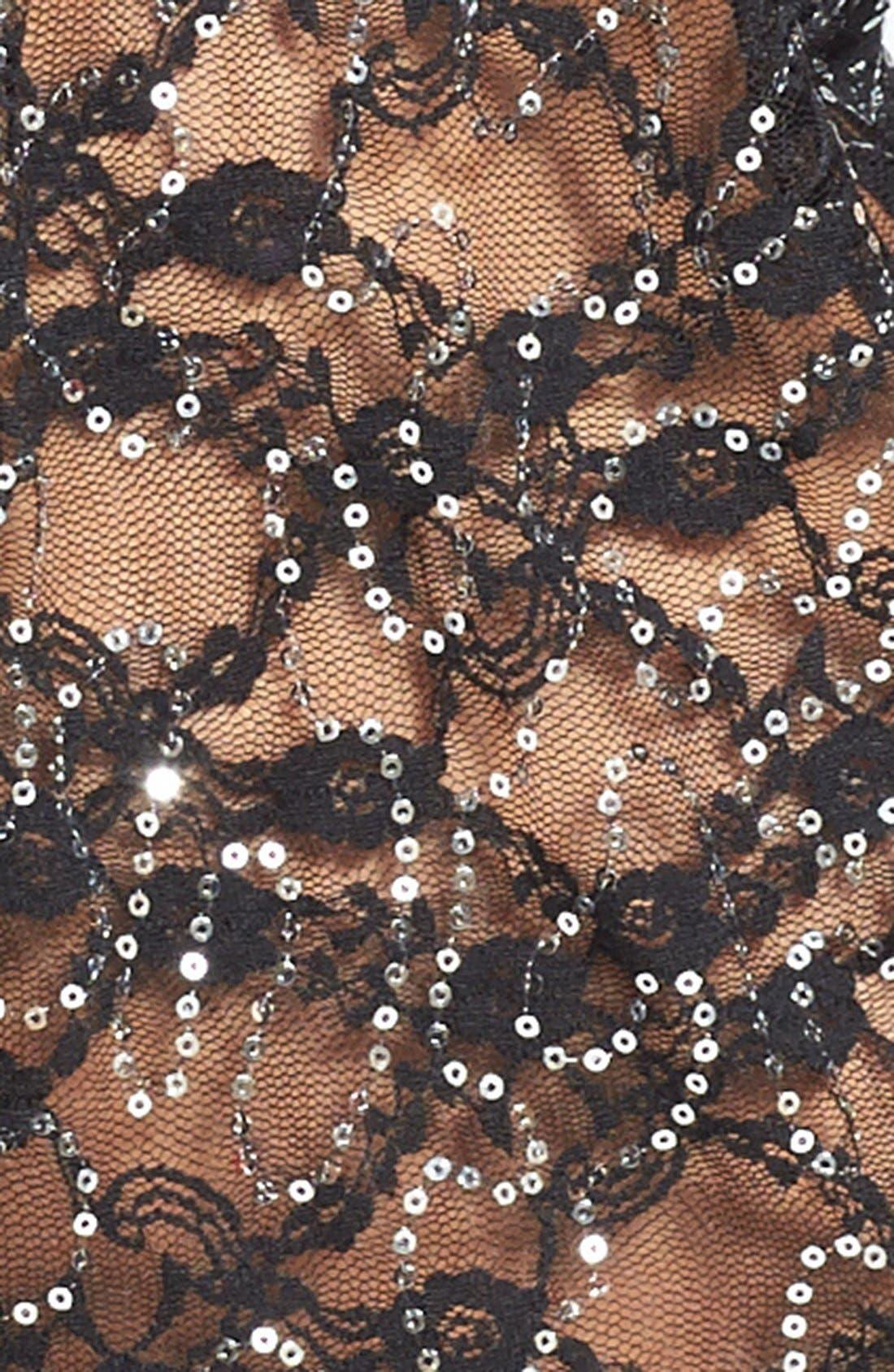 Alternate Image 3  - Betsey Johnson Sequin Lace Chemise