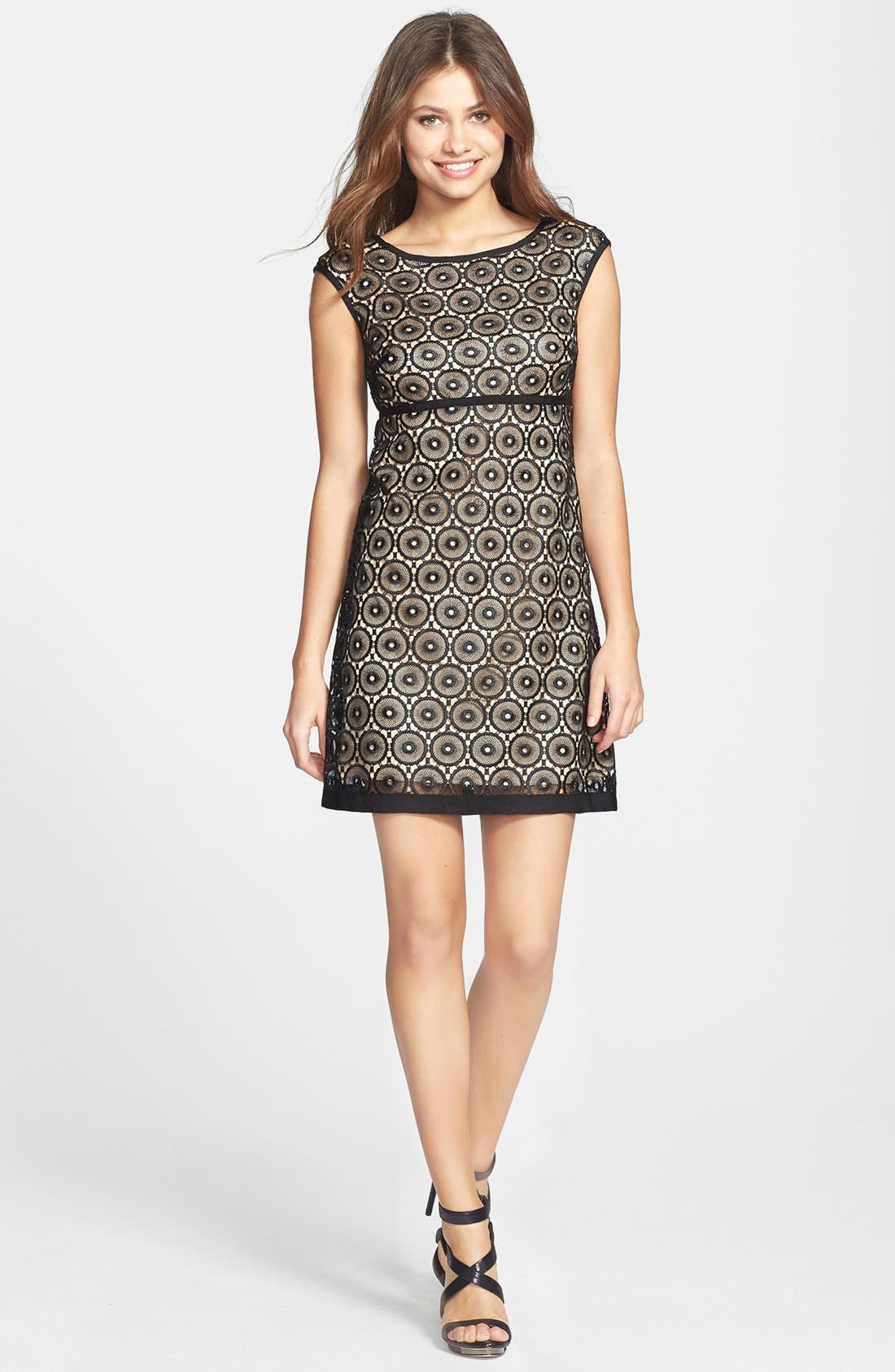 Main Image - Laundry by Shelli Segal Eyelet Lace Fit & Flare Dress