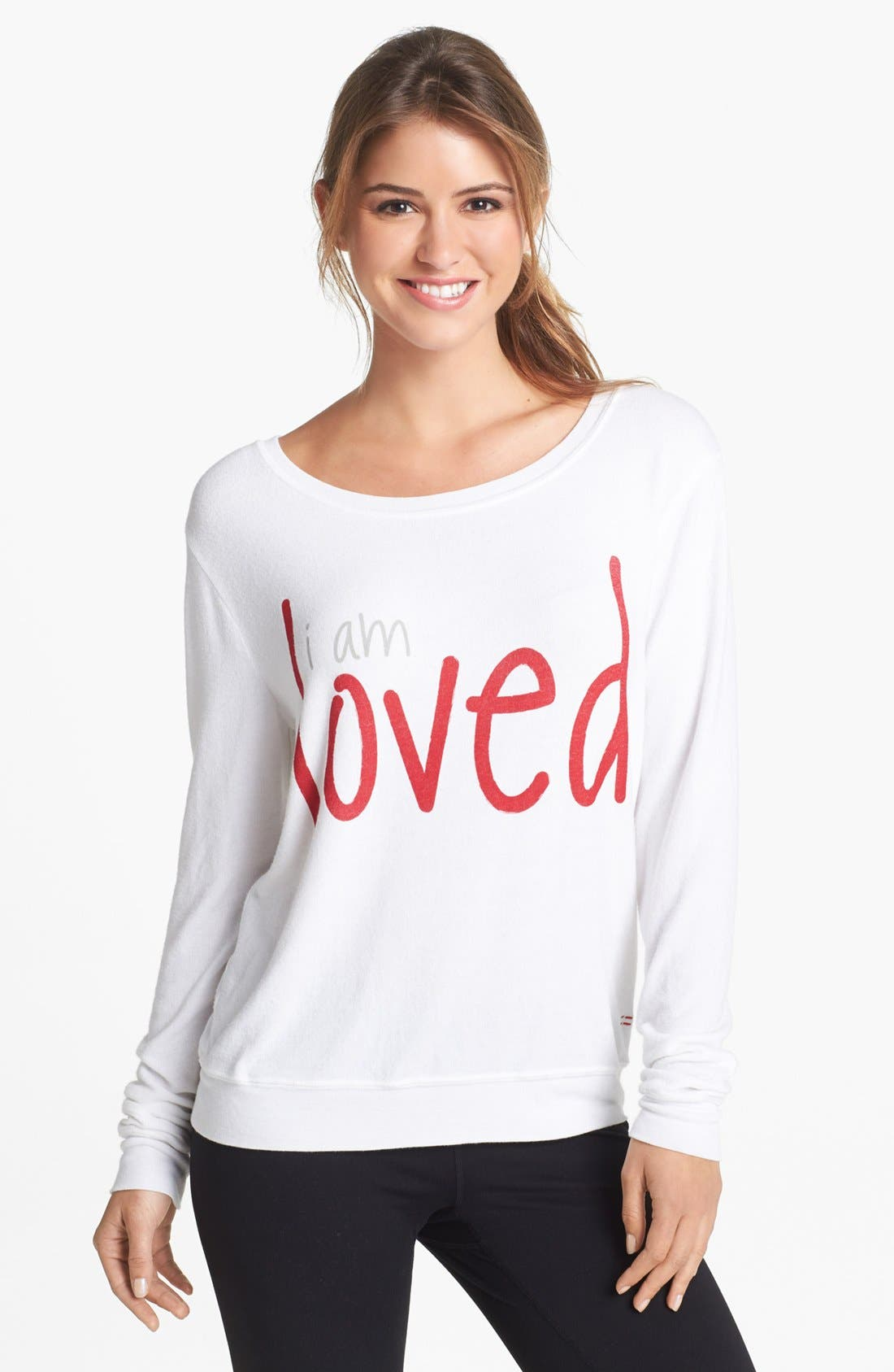 Alternate Image 1 Selected - Peace Love World 'Comfy' Top