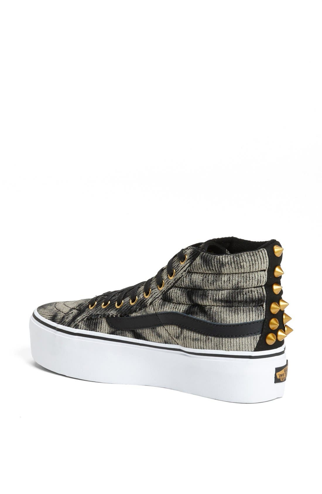 Alternate Image 2  - Vans 'Sk8 HI' Studded Platform Sneaker