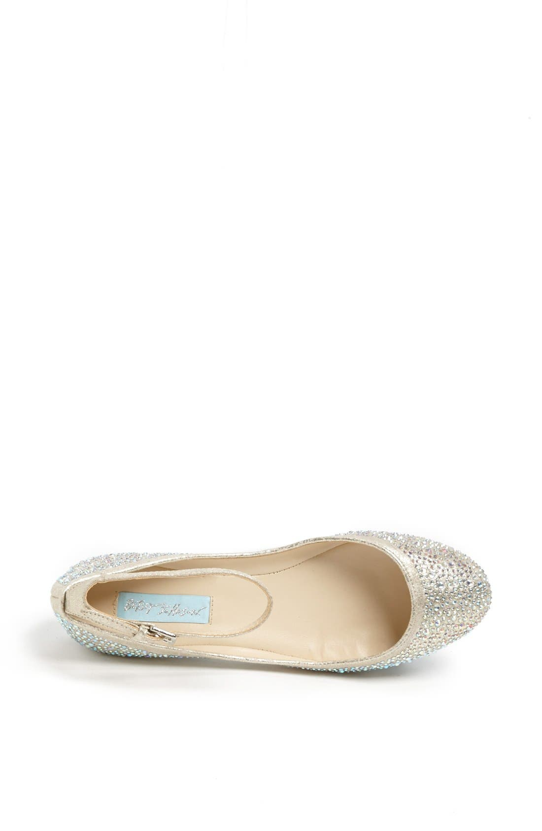 Alternate Image 3  - Betsey Johnson 'Joy' Ankle Strap Crystal Embellished Flat