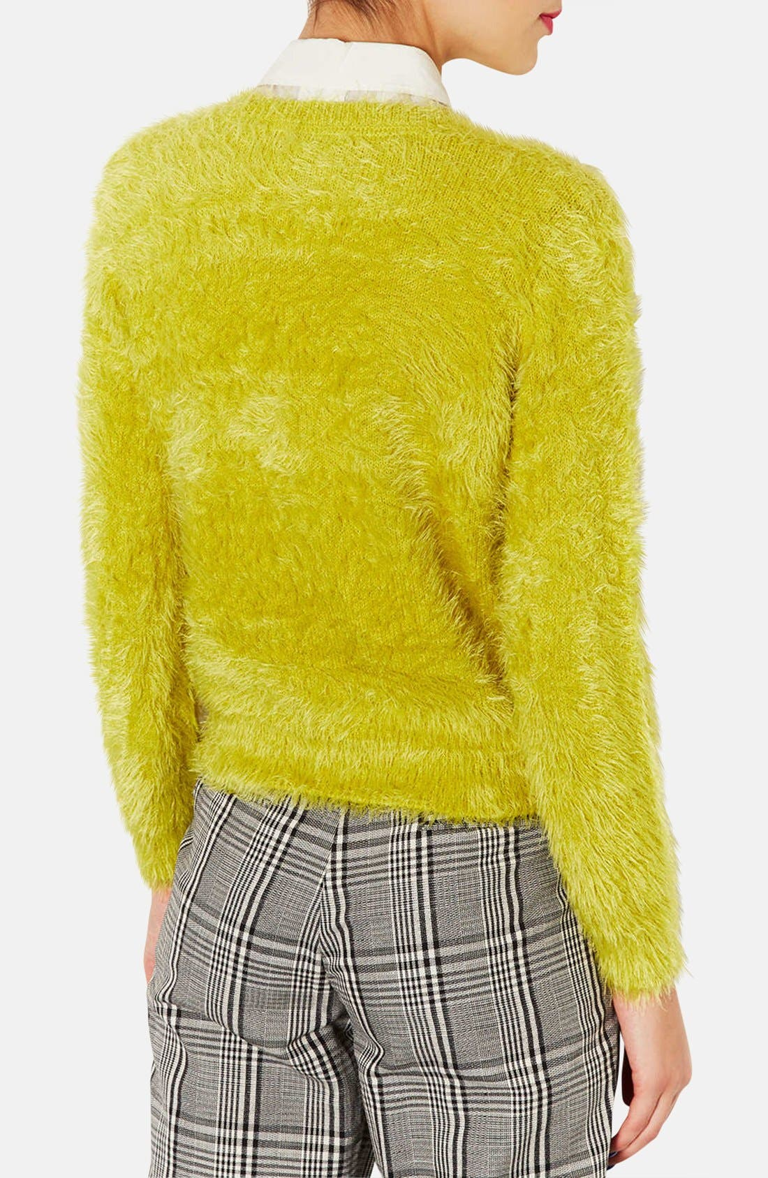 Alternate Image 2  - Topshop Textured Crewneck Sweater (Petite)