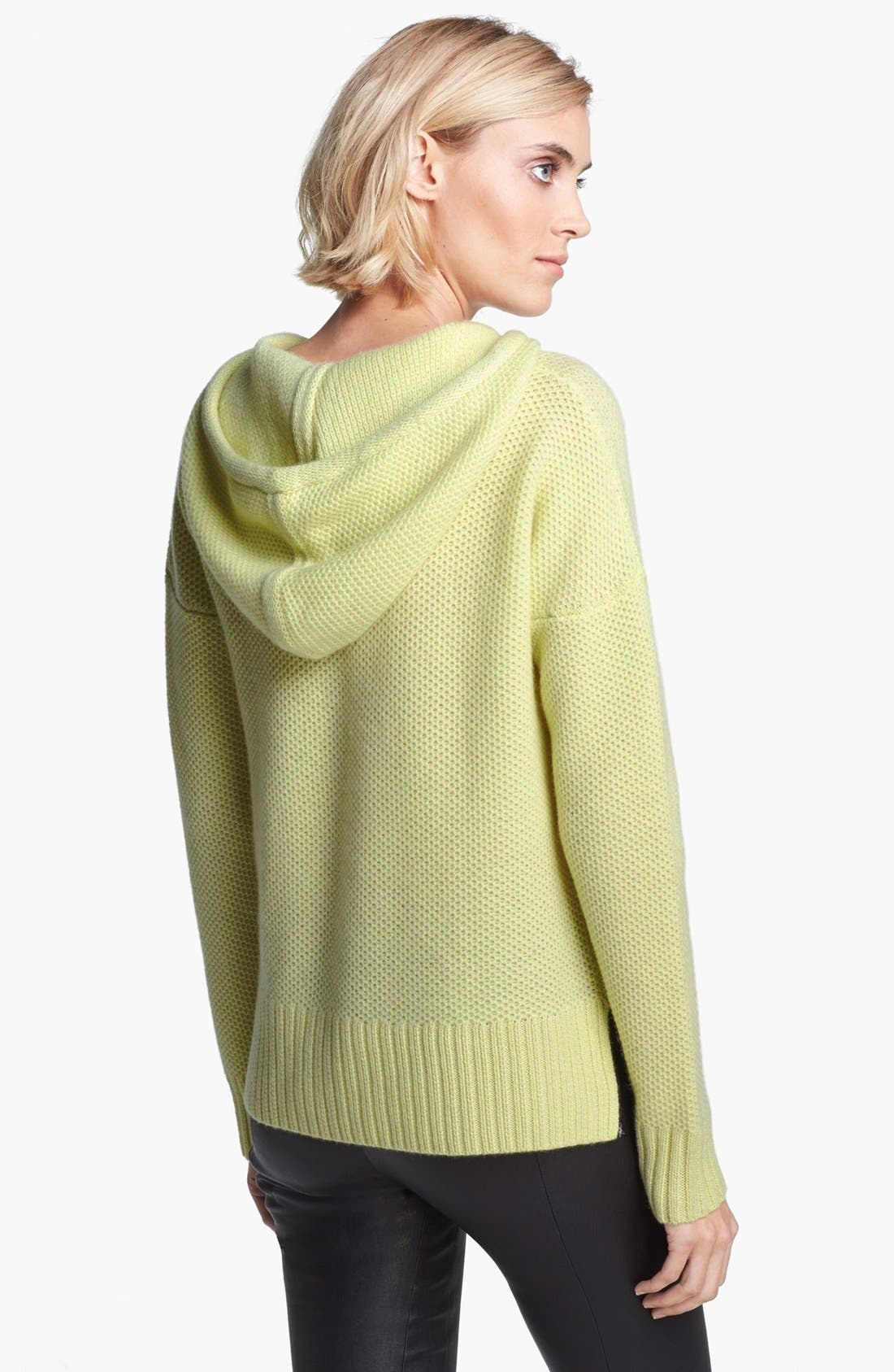 Alternate Image 2  - autumn cashmere Honeycomb Stitch Cashmere Hoodie