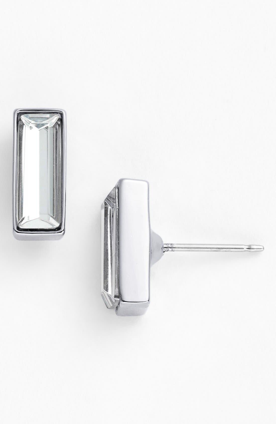 Alternate Image 1 Selected - Vince Camuto 'Crystal Clear' Baguette Crystal Stud Earrings