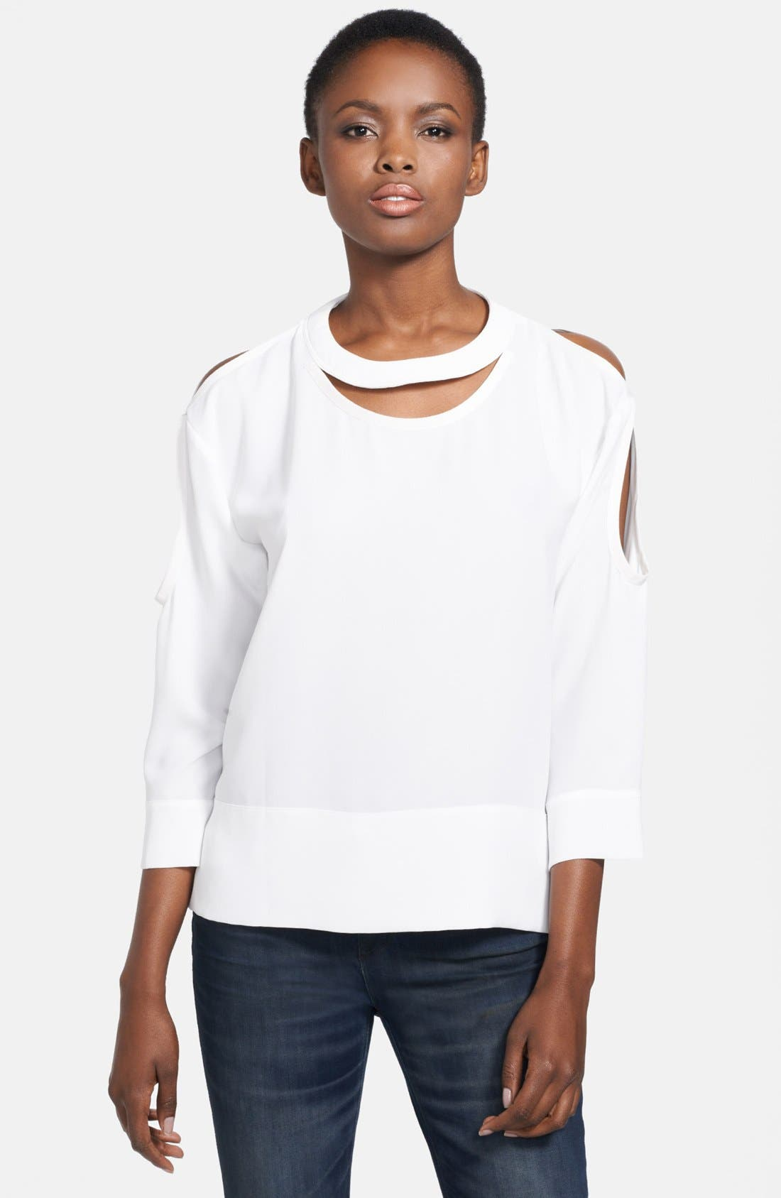 Alternate Image 1 Selected - IRO Cutout Detail Blouse