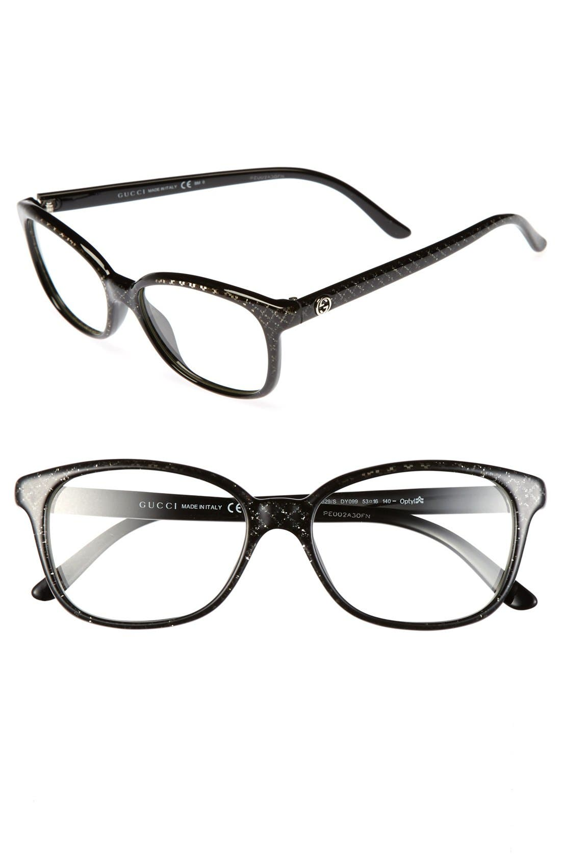 Main Image - Gucci 53mm Optical Glasses (Online Only)