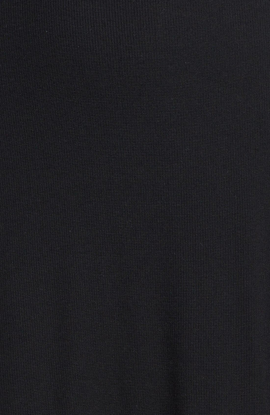 Alternate Image 3  - BCBGMAXARIA Tulle Hem Jersey Midi Dress