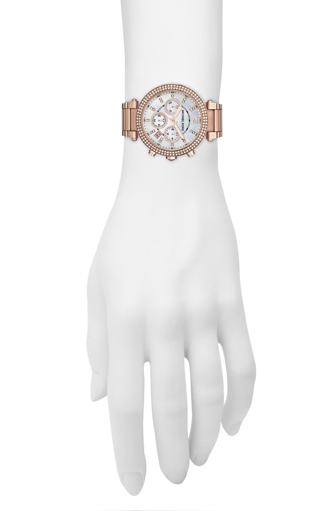 Alternate Image 4  - Michael Kors 'Parker' Chronograph Bracelet Watch, 39mm