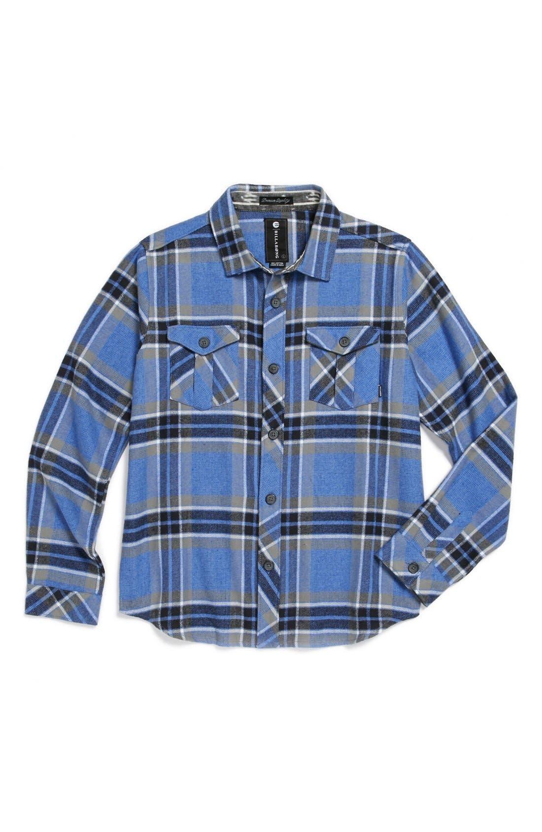Alternate Image 1 Selected - Billabong 'Woodland' Flannel Sport Shirt (Big Boys)