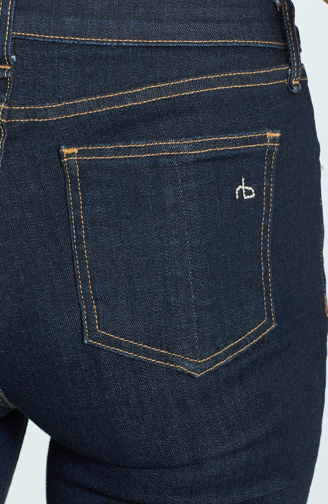 Alternate Image 3  - rag & bone/JEAN High Rise Skinny Jeans (Heritage)