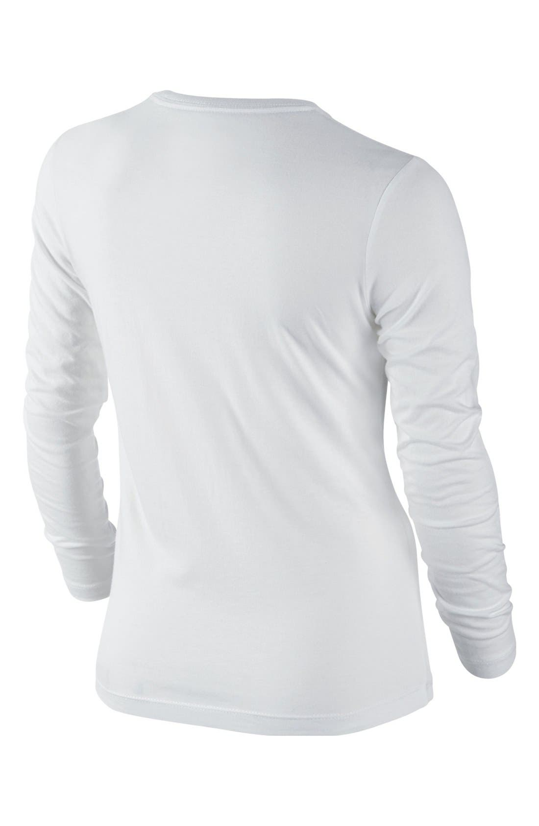 Alternate Image 2  - Nike 'Varsity Team' Long Sleeve T-Shirt (Big Girls)