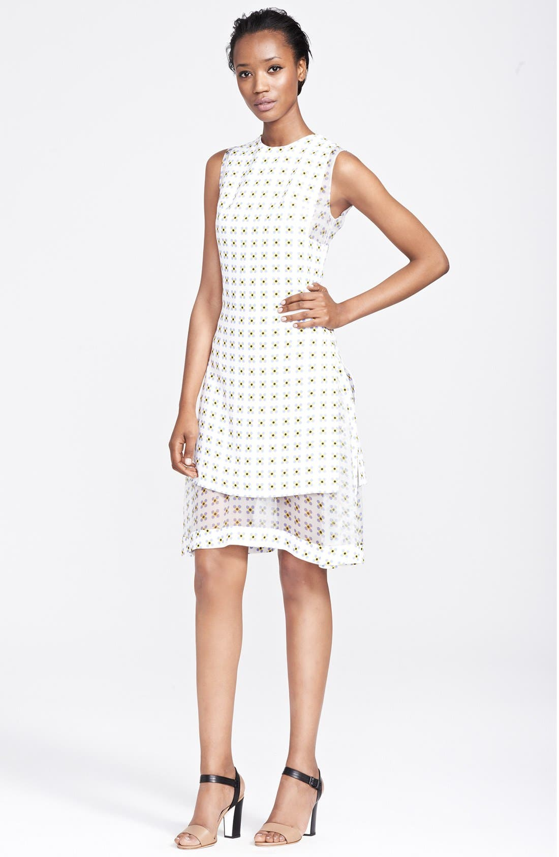 Main Image - Thakoon Organza Layer Print Dress