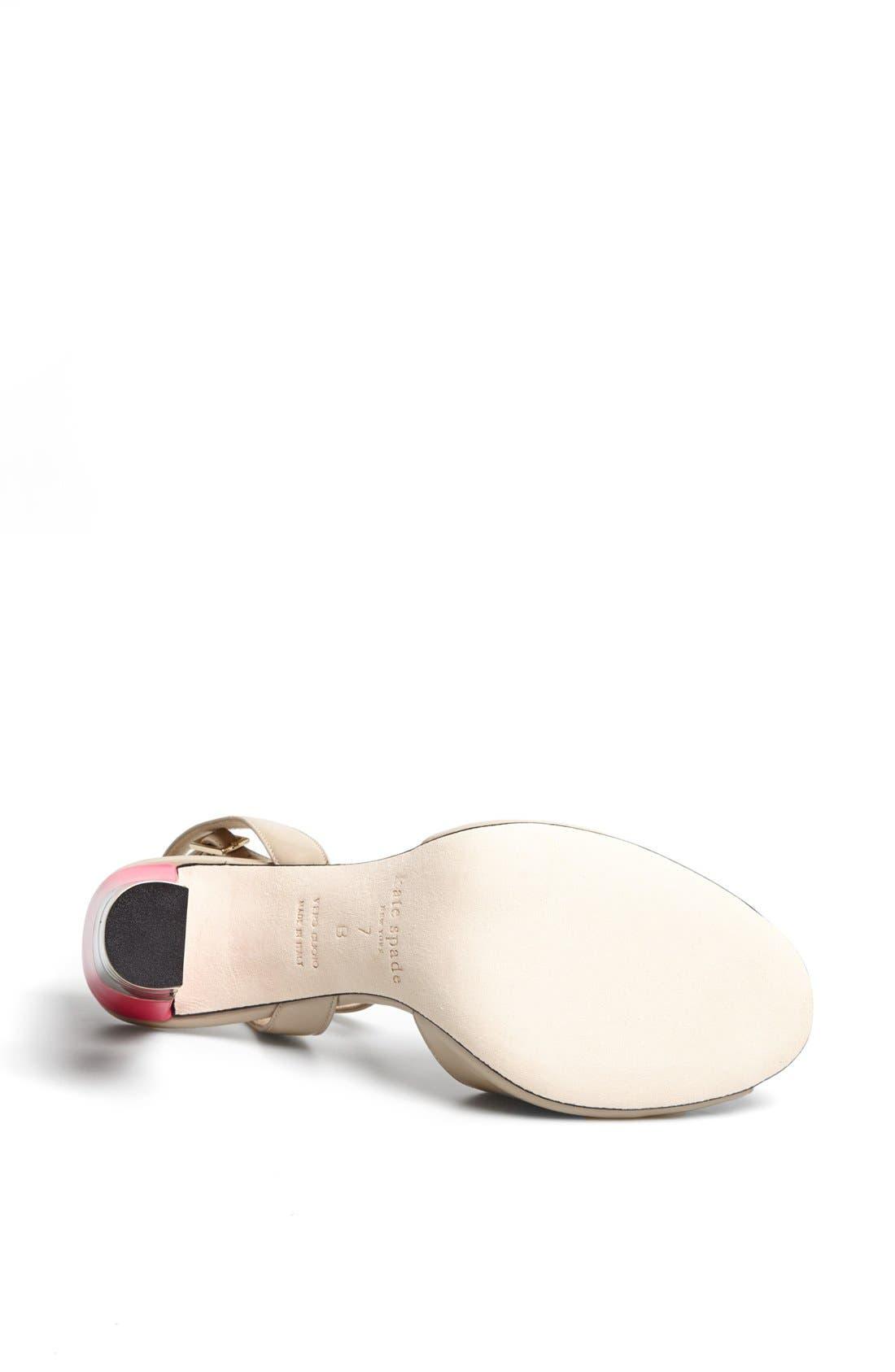 Alternate Image 4  - kate spade new york 'ice' leather sandal