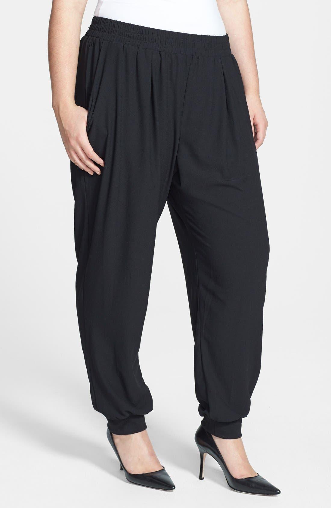 Alternate Image 1 Selected - Bobeau Track Pants (Plus Size)