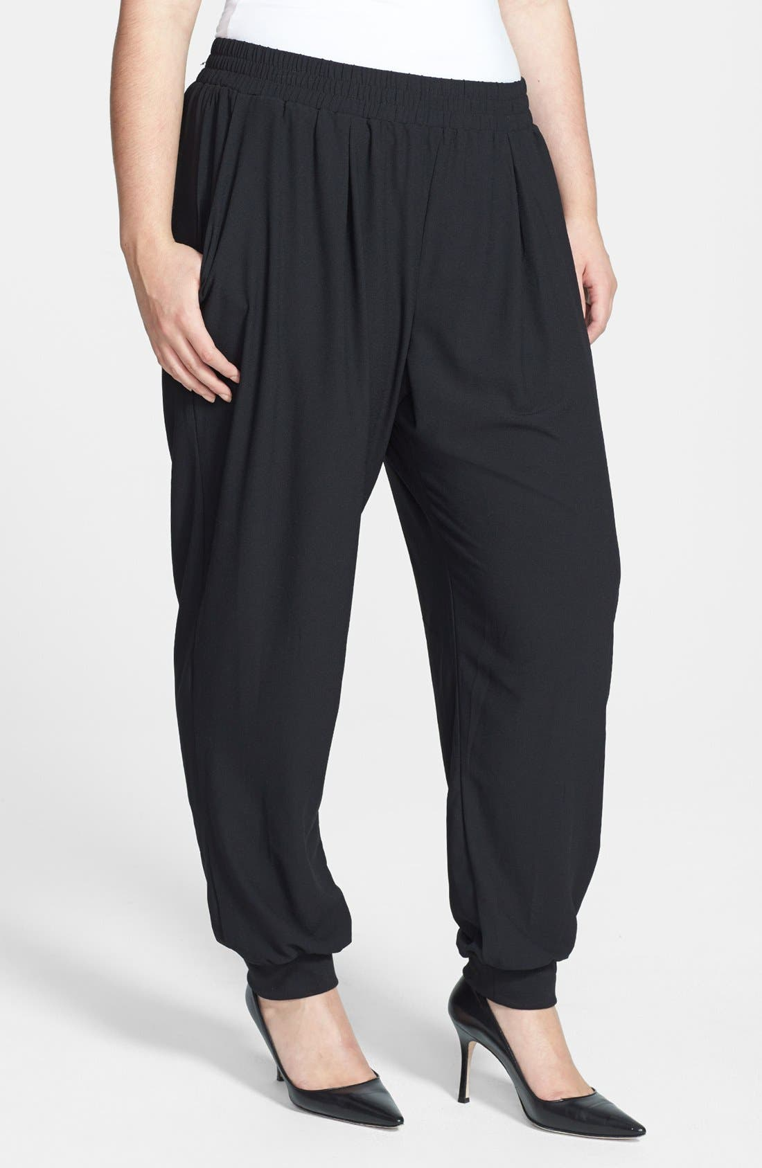 Main Image - Bobeau Track Pants (Plus Size)