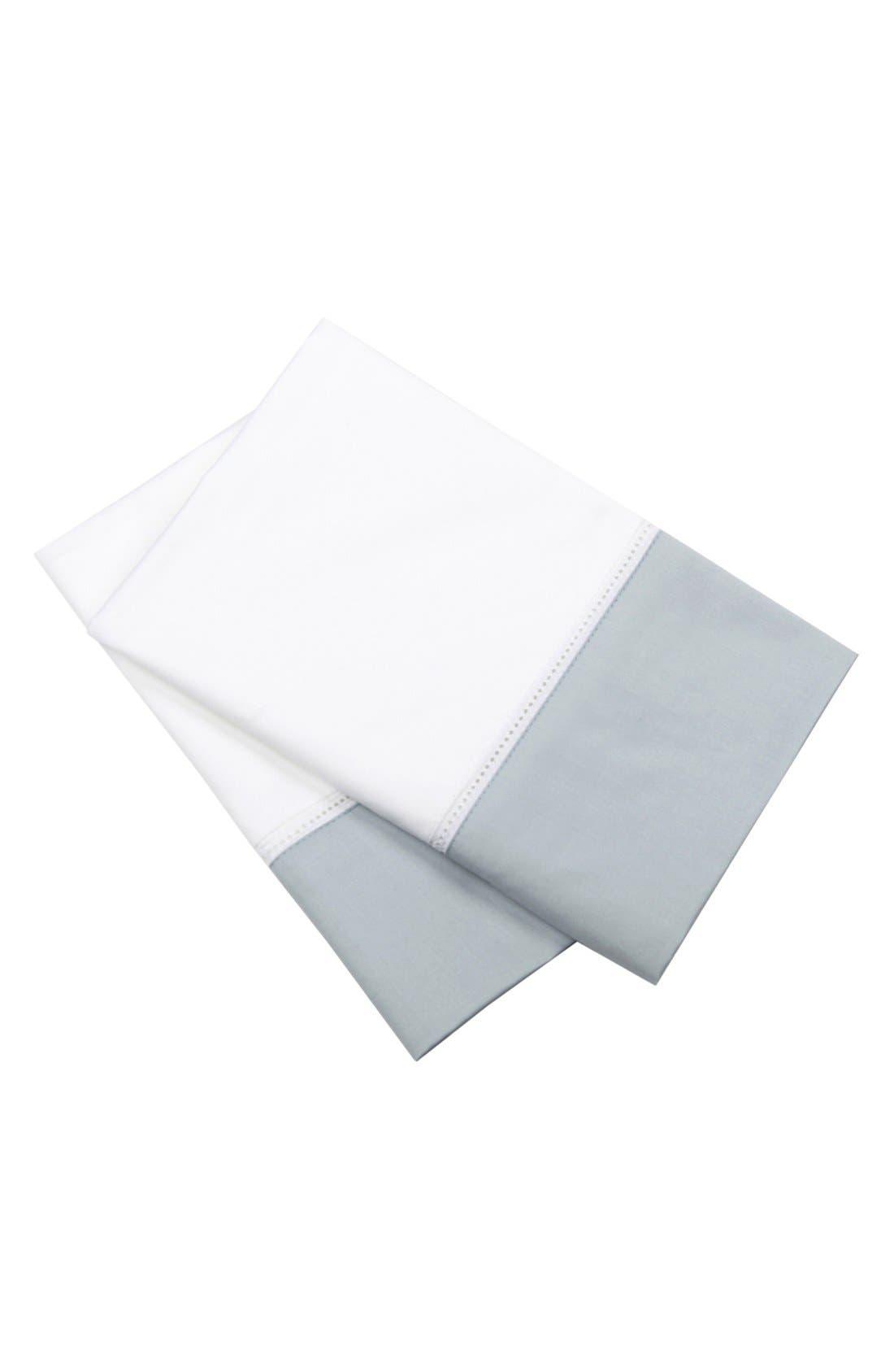 Alternate Image 1 Selected - Blissliving Home 'Mayfair White' Cotton Sateen Standard Pillowcase