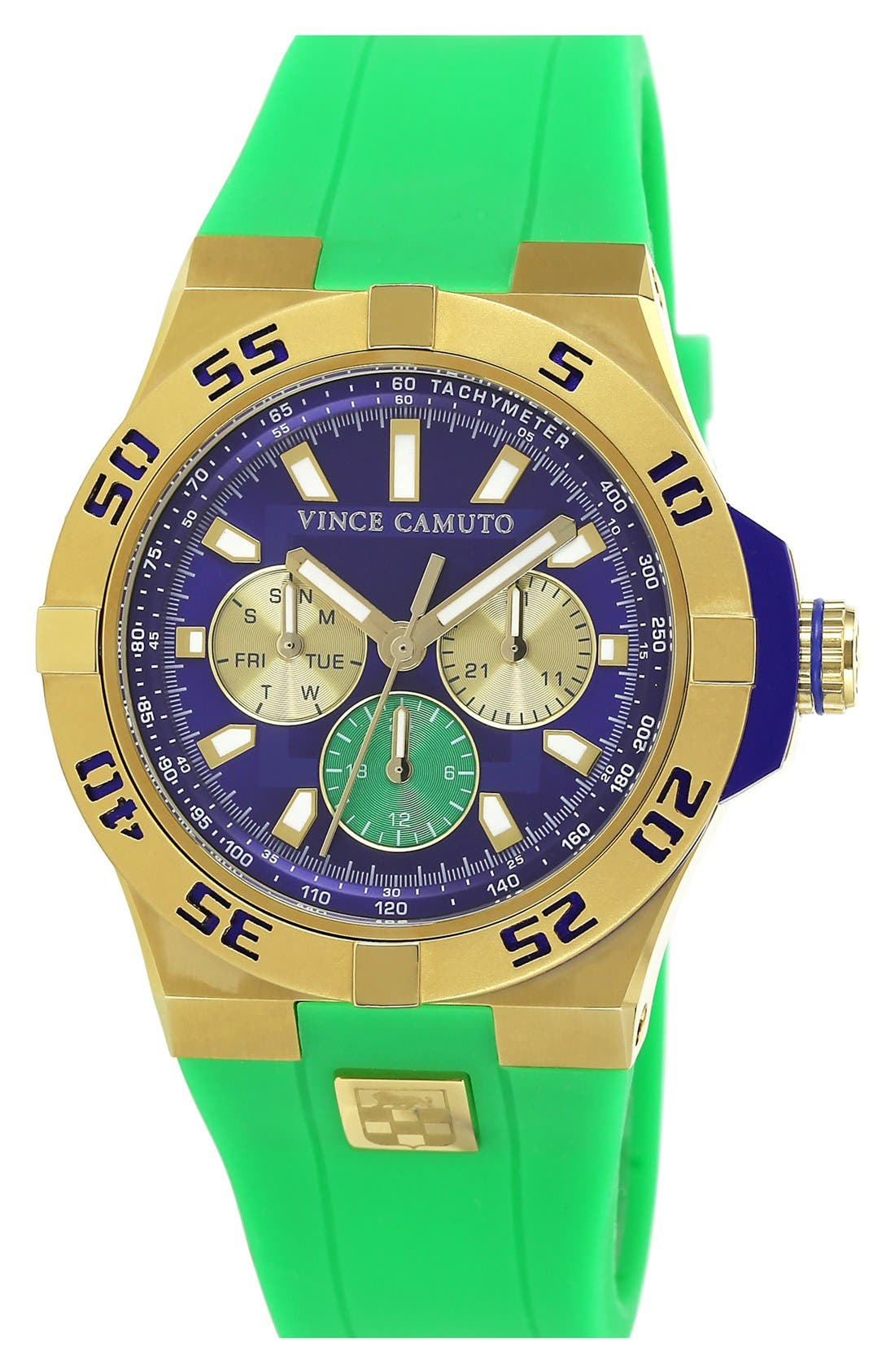 Main Image - Vince Camuto Chronograph Silicone Strap Watch, 43mm