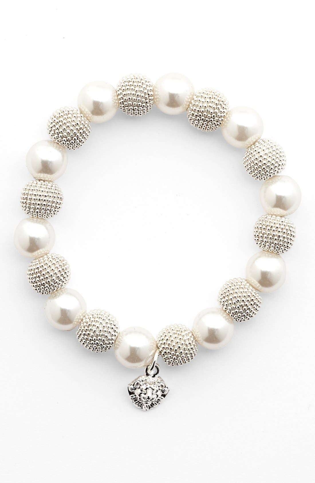 Alternate Image 1 Selected - Anne Klein Faux Pearl Stretch Bracelet