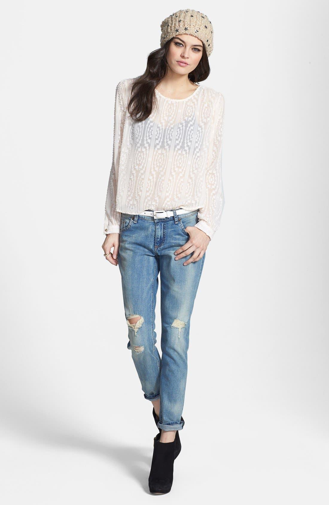 Alternate Image 4  - edyson 'Sloan' Destroyed Skinny Jeans (Marmi)