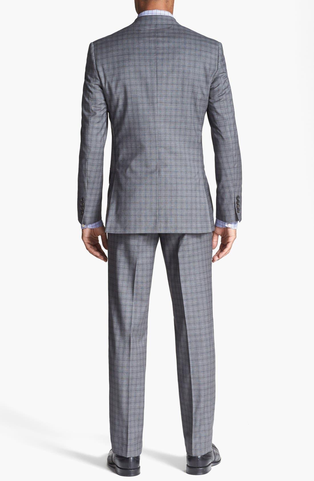 Alternate Image 2  - Ted Baker London 'Jones' Trim Fit Check Suit