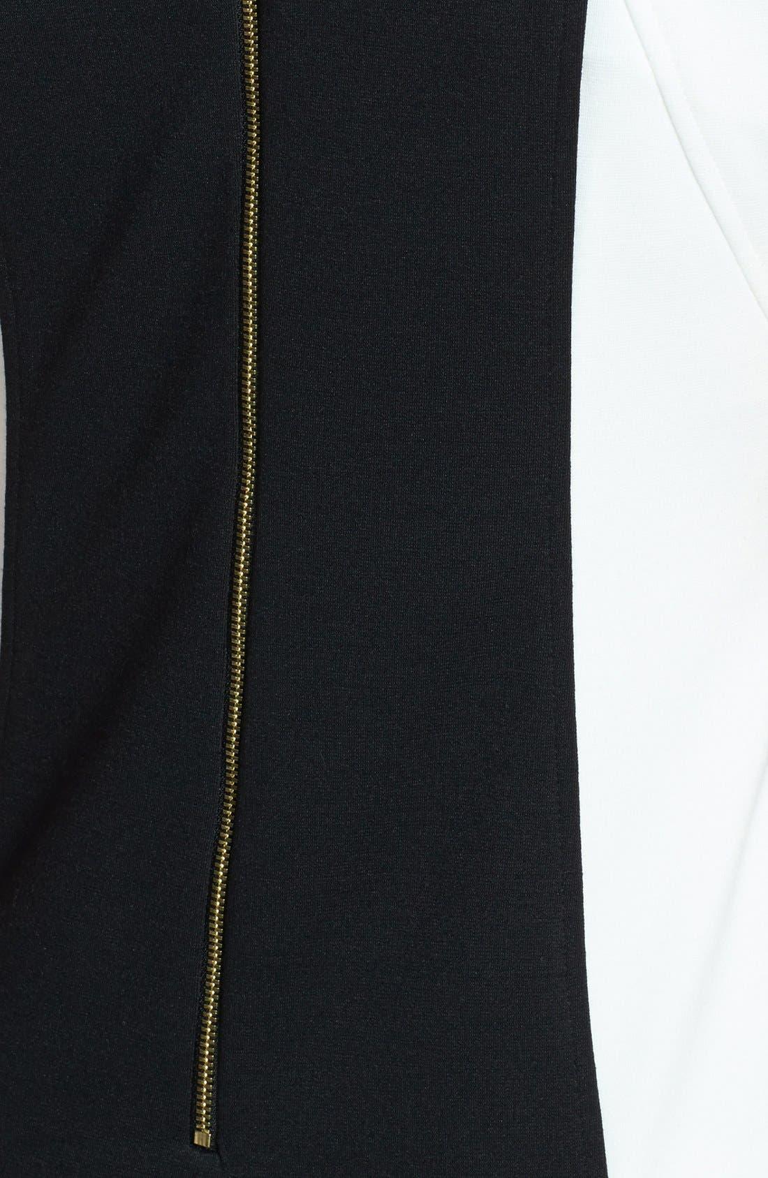 Alternate Image 4  - Ellen Tracy Colorblock Ponte Sheath Dress