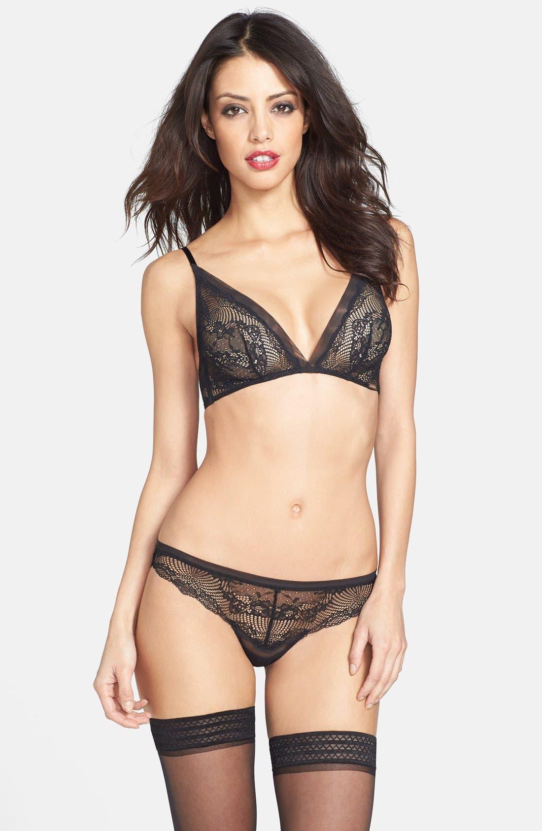 Alternate Image 3  - Calvin Klein 'Serene' Lace Triangle Bra