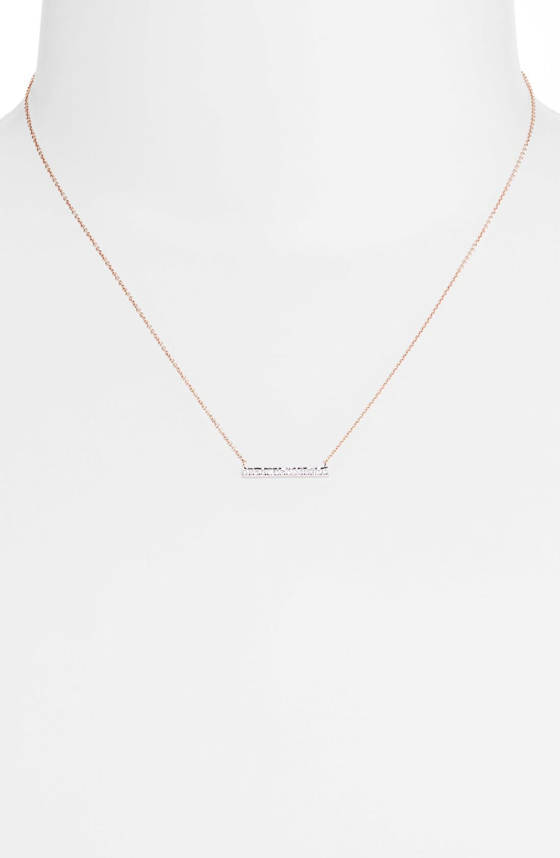 Alternate Image 2  - Dana Rebecca Designs 'Sylvie Rose' Medium Diamond Bar Pendant Necklace