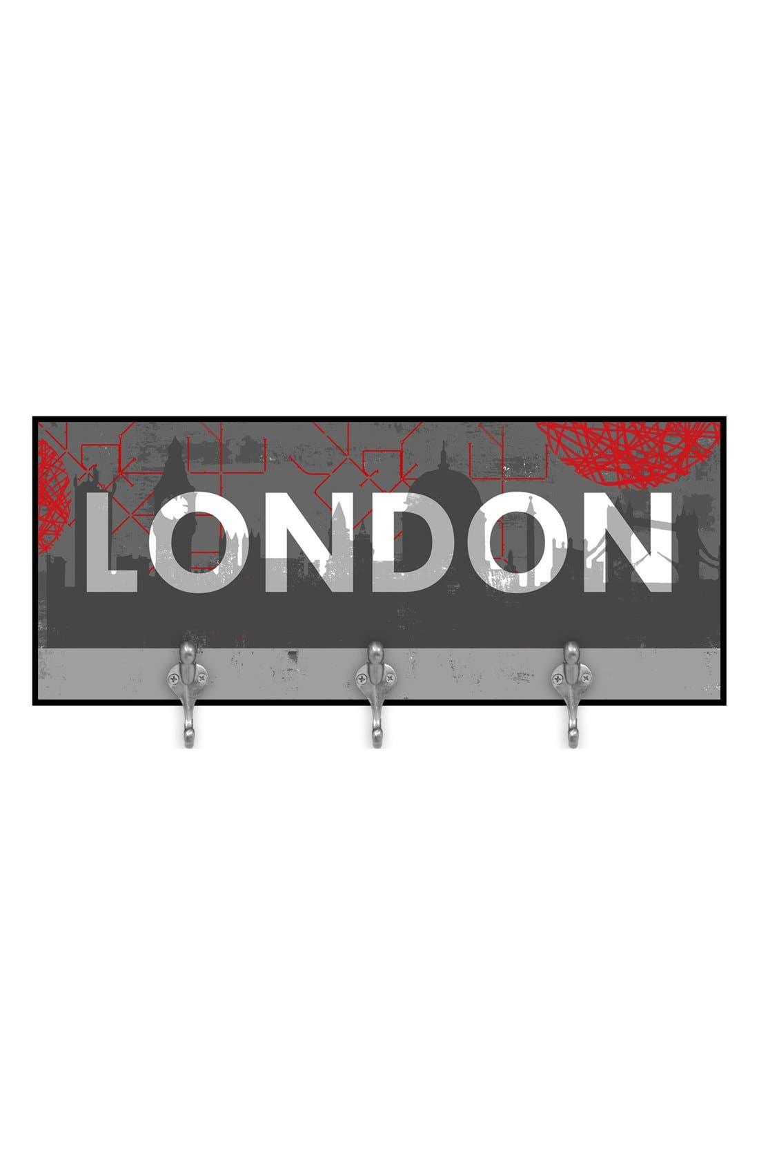 Alternate Image 1 Selected - Green Leaf Art 'London' Multi Hook Wall Mount Rack