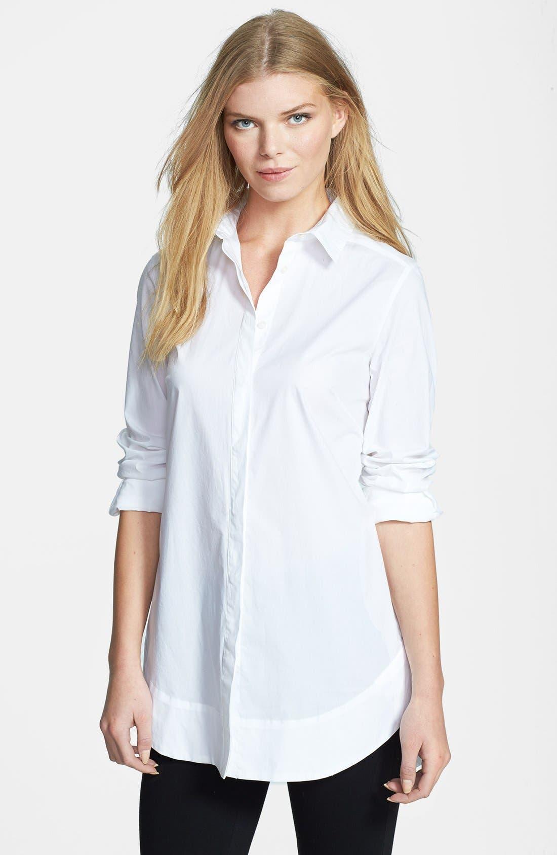 Alternate Image 1 Selected - Weekend Max Mara 'Refolo' Poplin Tunic Shirt