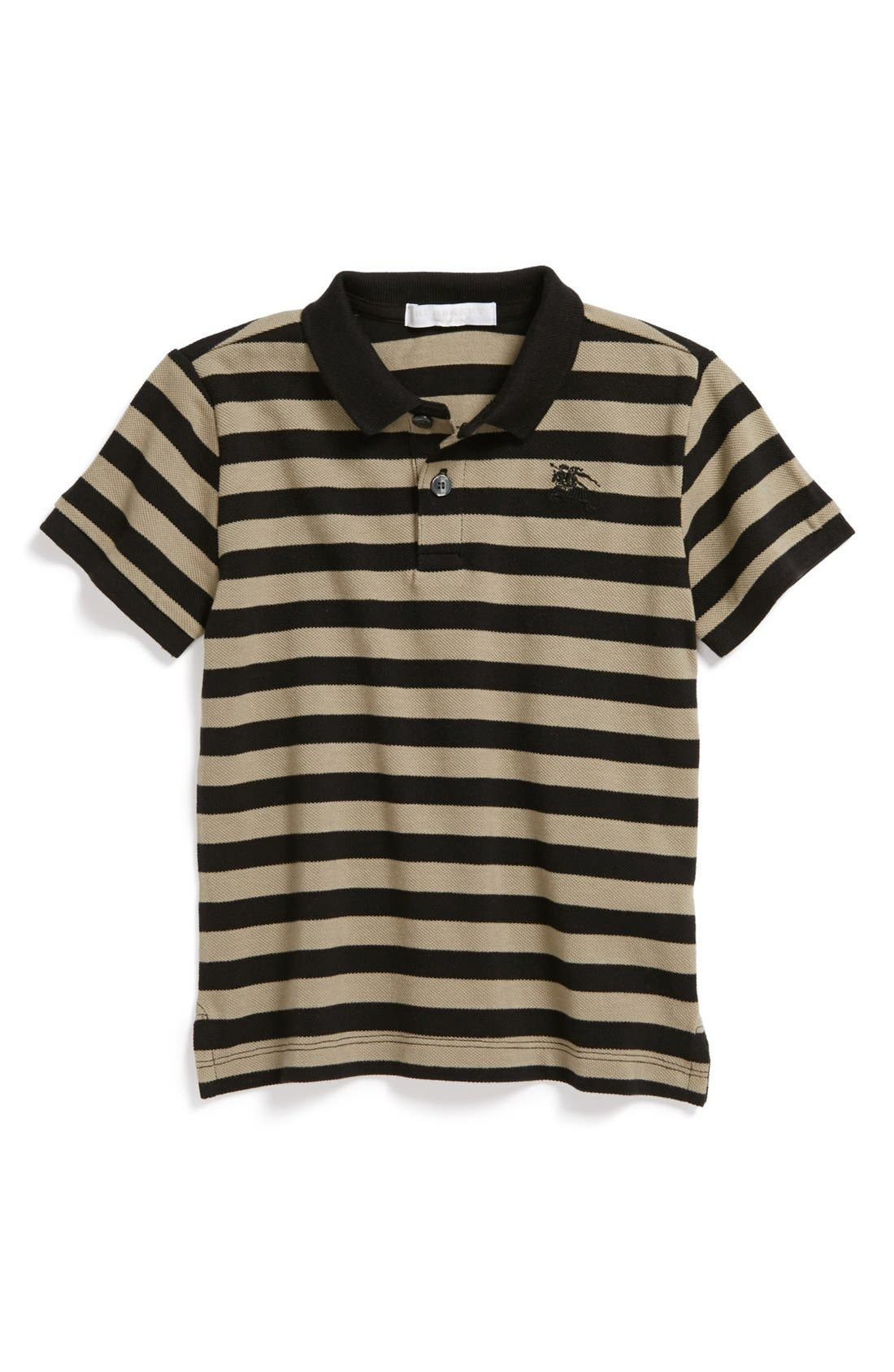 Alternate Image 1 Selected - Burberry 'Hemel' Stripe Polo (Toddler Boys, Little Boys & Big Boys)