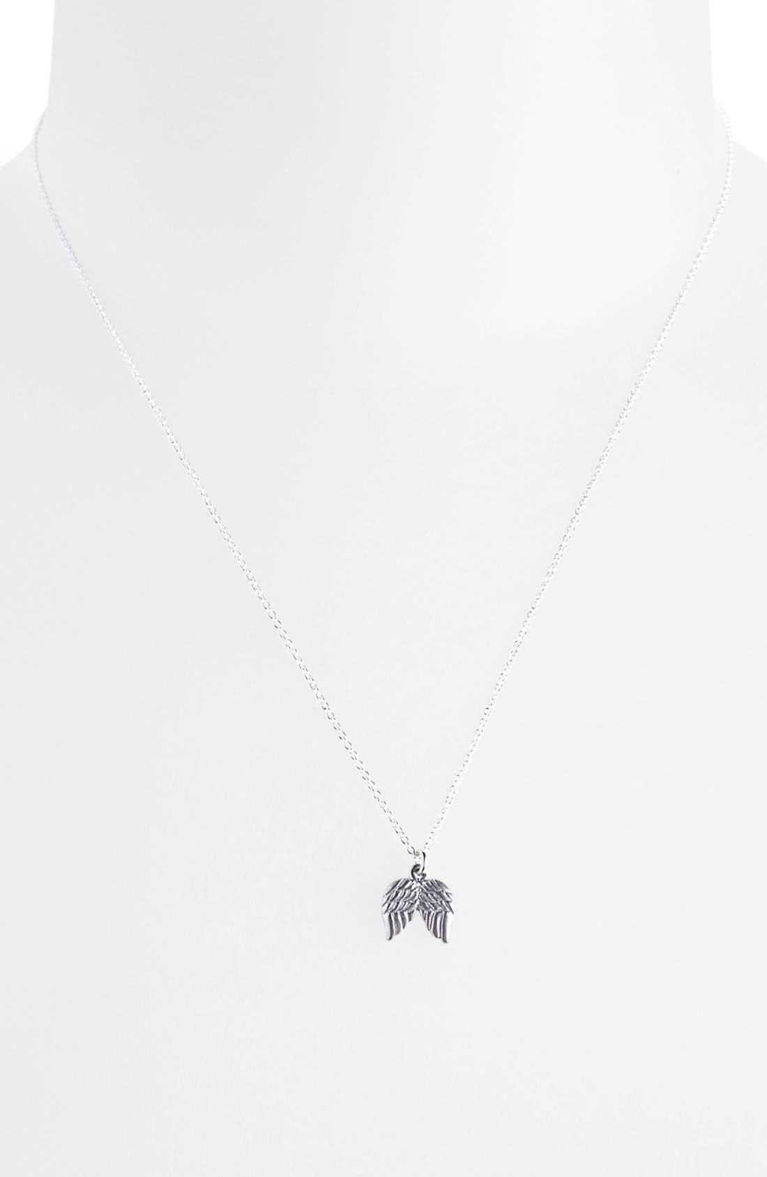 Alternate Image 2  - Dogeared 'Reminder - Blessed' Boxed Angel Wings Pendant Necklace