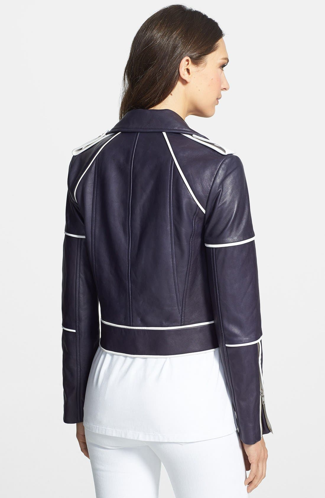 Alternate Image 2  - Diane von Furstenberg 'Kenzie' Leather Moto Jacket
