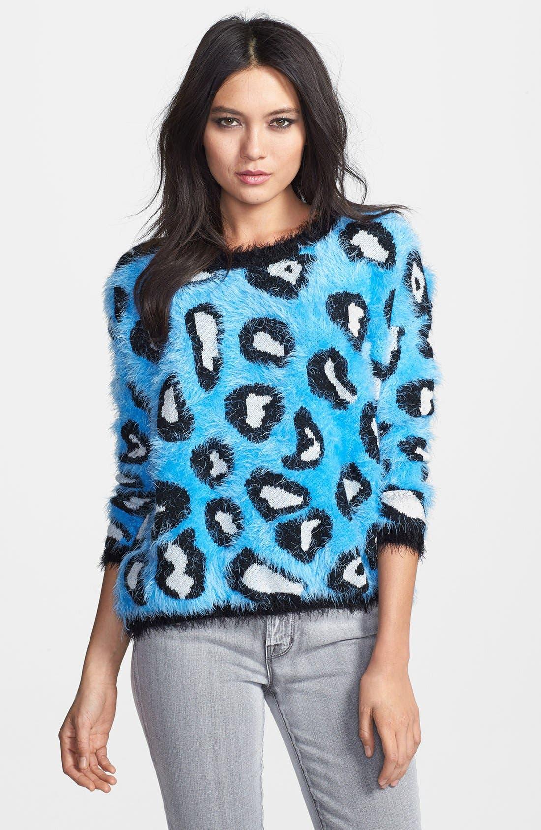 Alternate Image 1 Selected - Raga Animal Pattern Textured Pullover