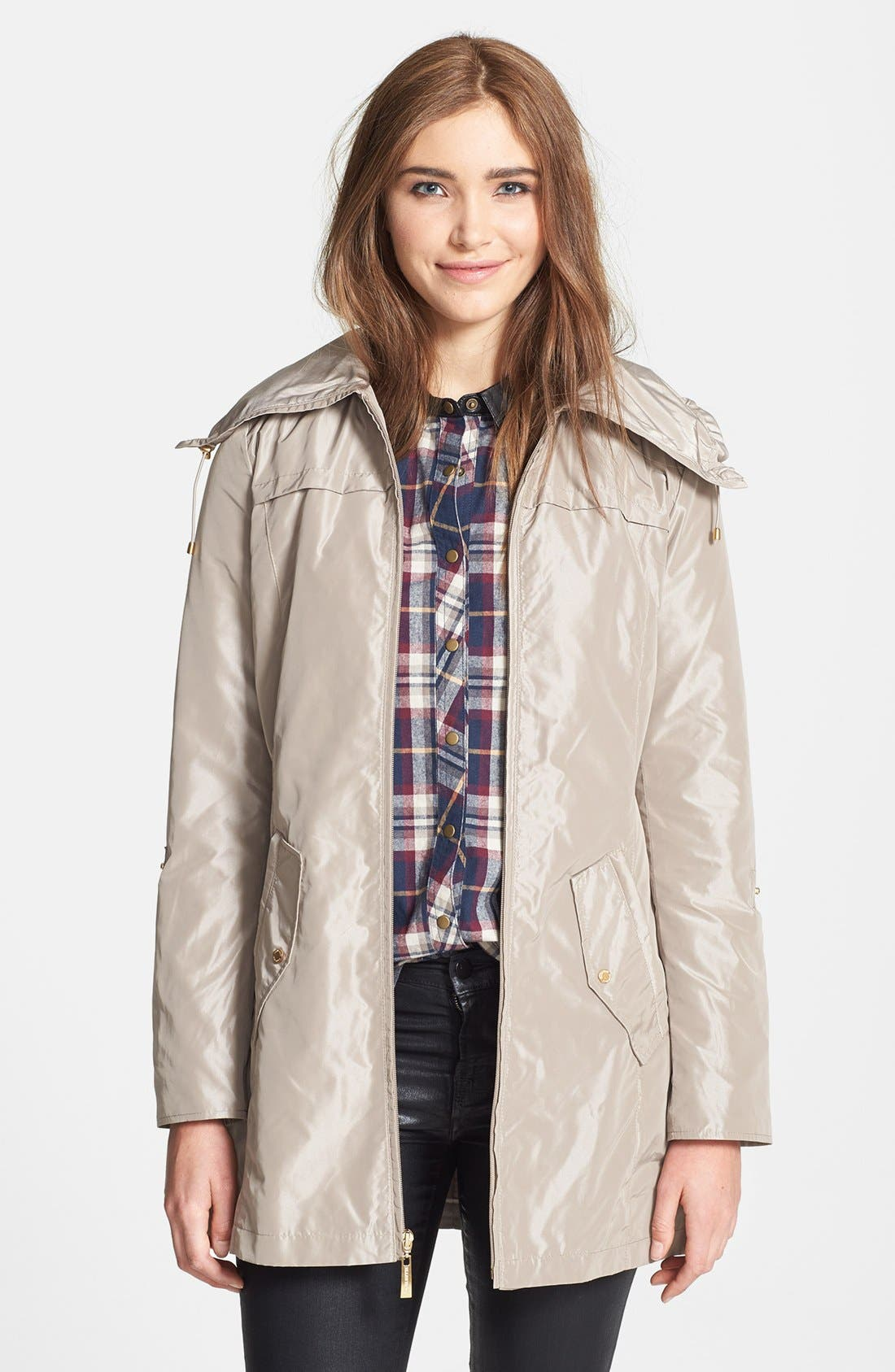 Alternate Image 1 Selected - Ellen Tracy Packable Raincoat (Online Only)