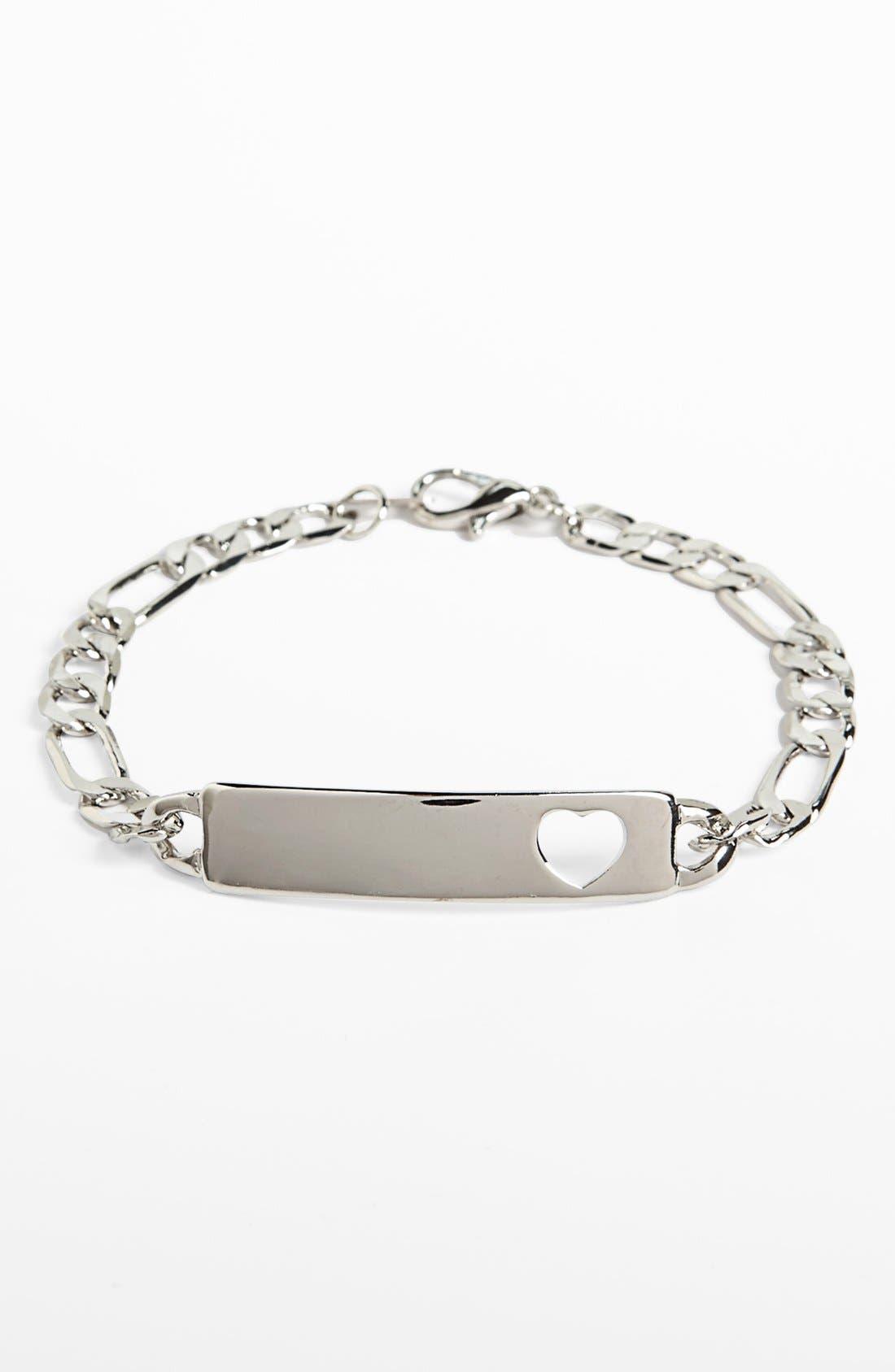 Alternate Image 1 Selected - BP. Heart Cutout ID Bracelet (Juniors)