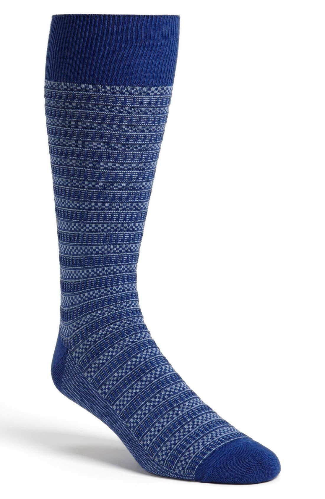 Alternate Image 1 Selected - Cole Haan Checker Bands Crew Socks