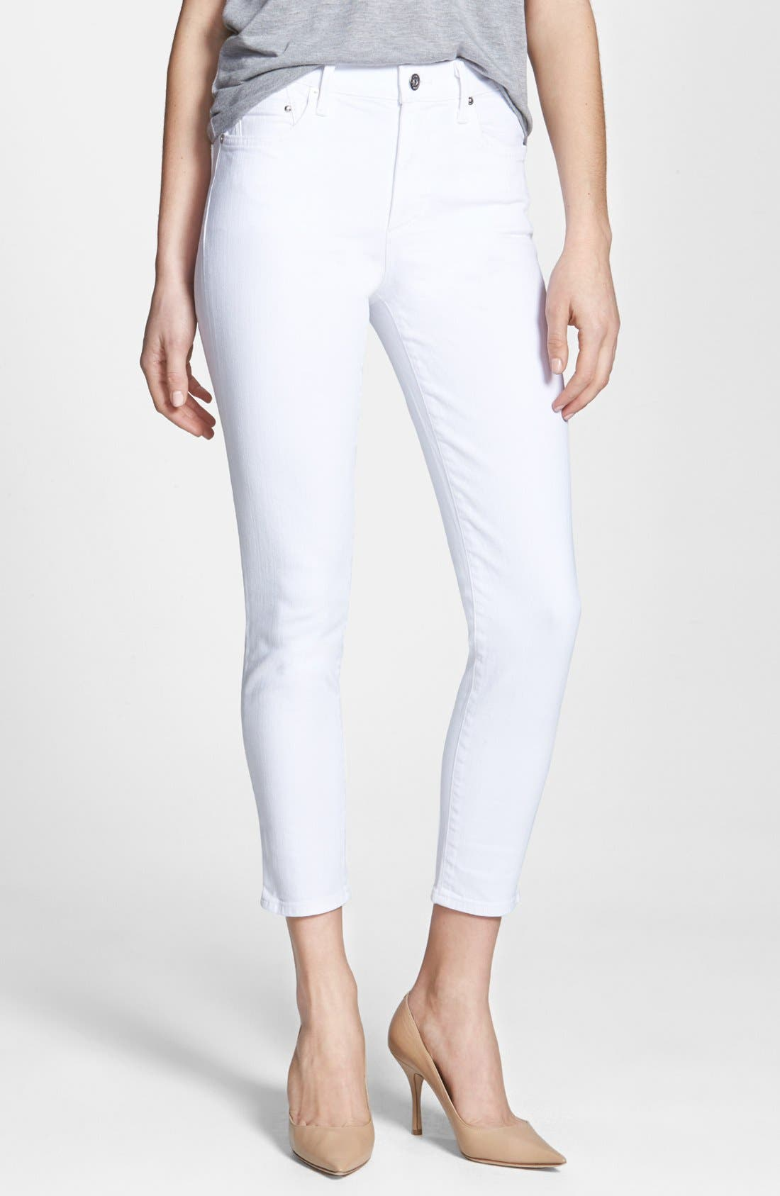 Main Image - Citizens of Humanity 'Racer' High Rise Skinny Jeans (Santorini White)