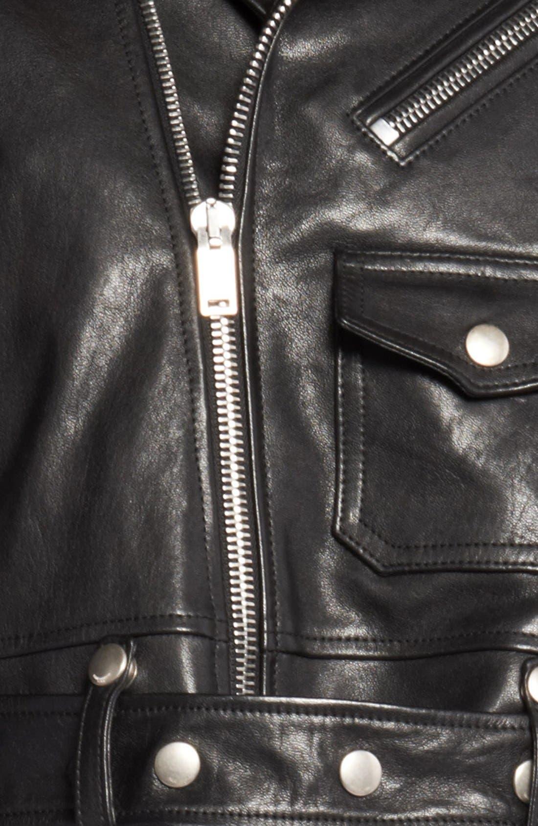 Alternate Image 4  - Saint Laurent Leather Moto Vest