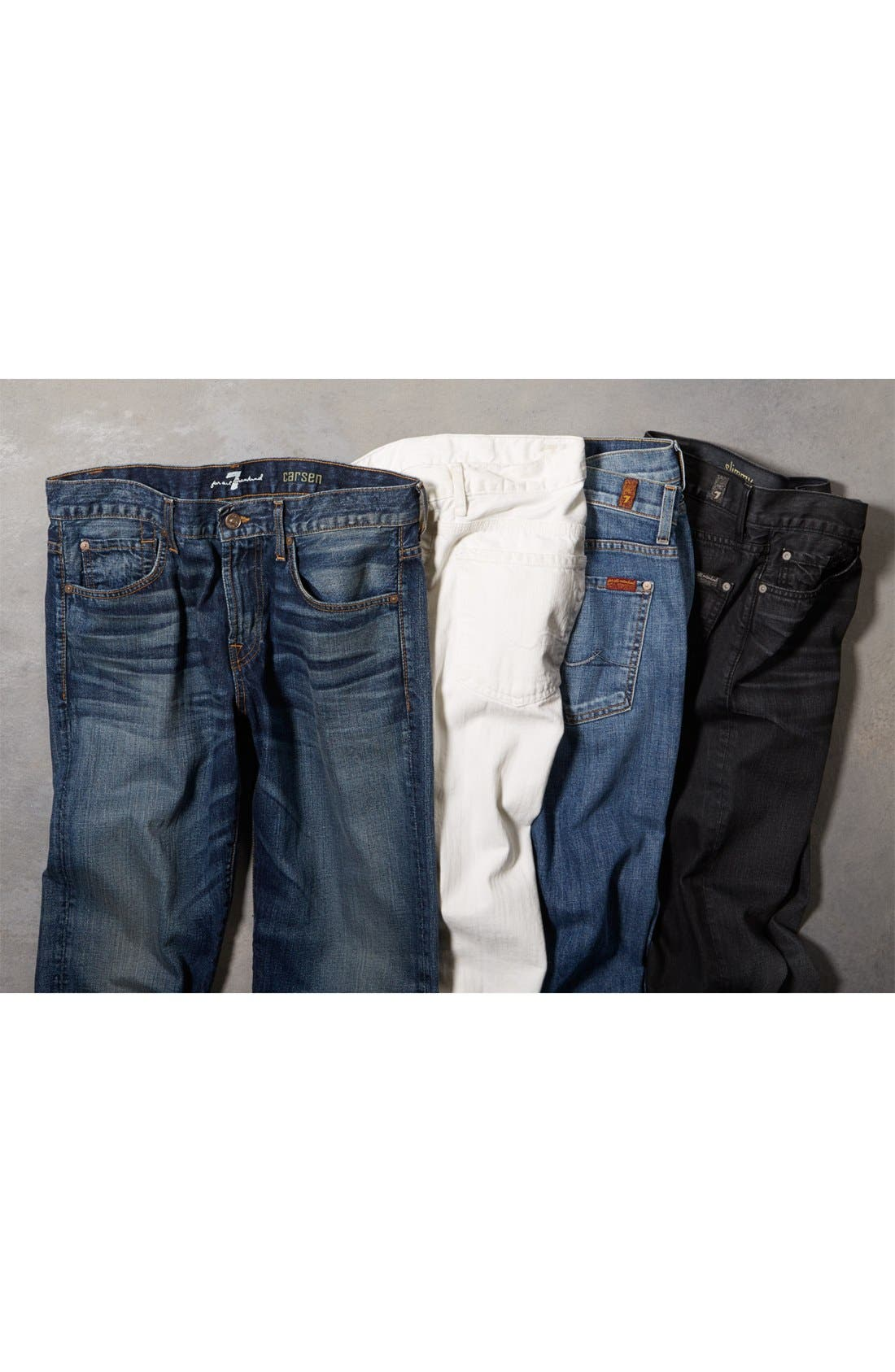 Alternate Image 5  - 7 For All Mankind® 'Slimmy' Slim Straight Leg Jeans (Clean White Wash)
