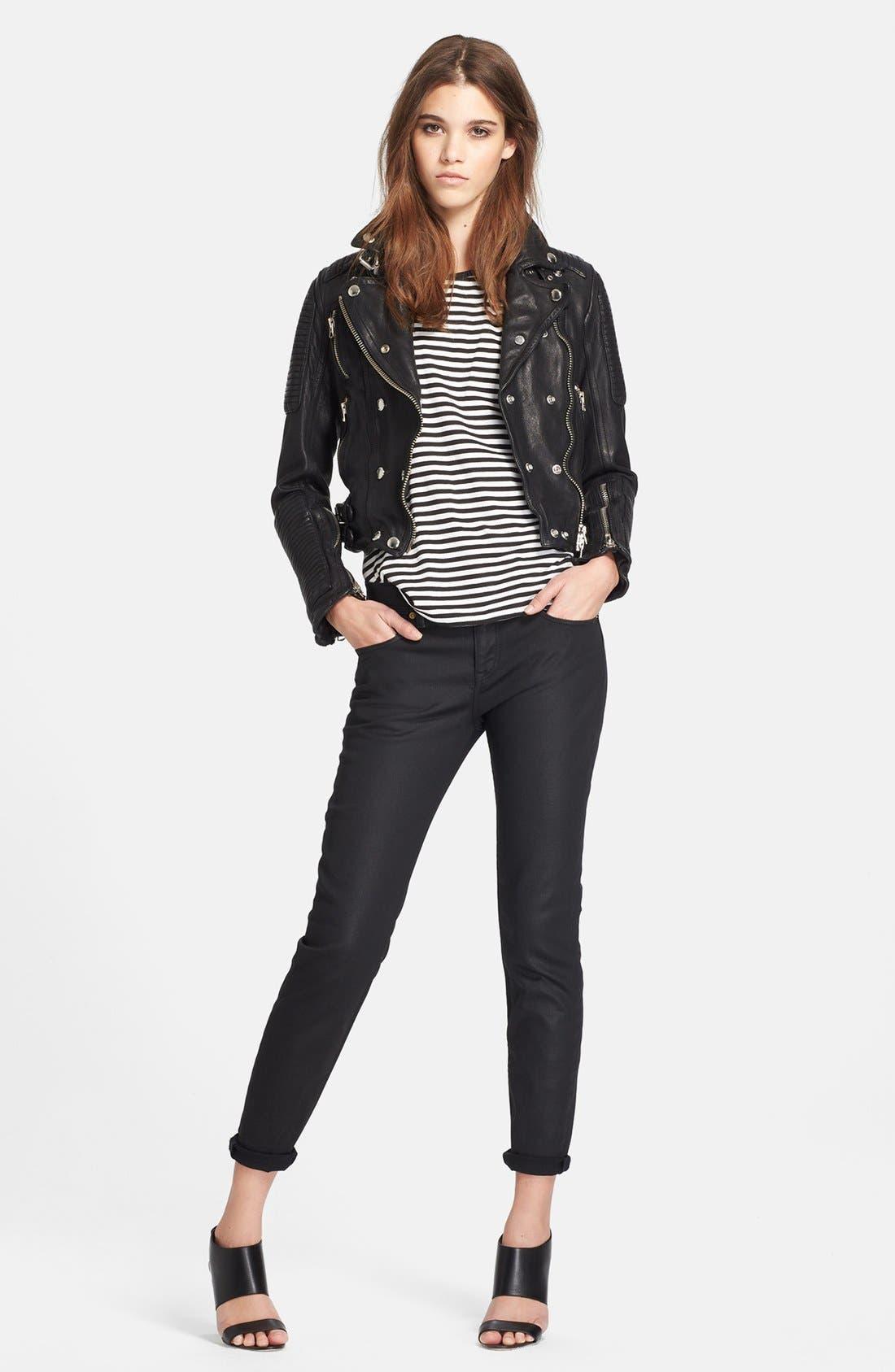 Alternate Image 4  - Burberry Brit 'Losley' Leather Moto Jacket
