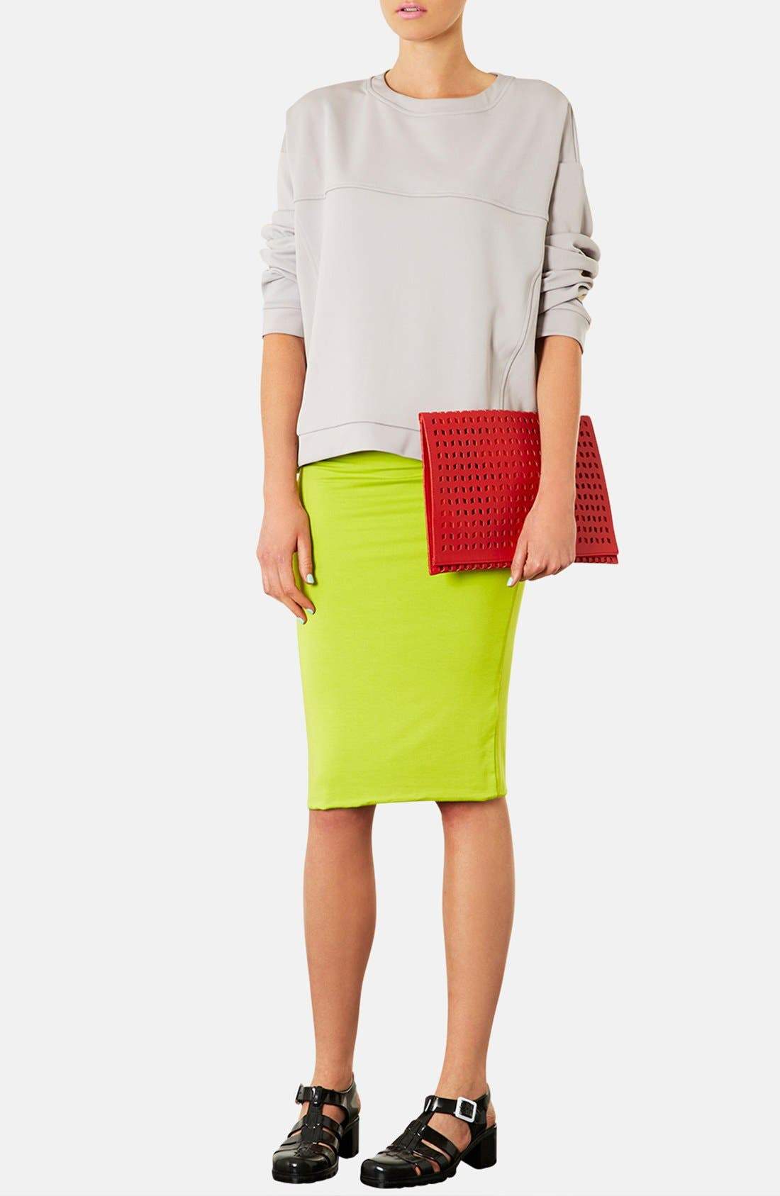 Alternate Image 2  - Topshop Perforated Foldover Clutch