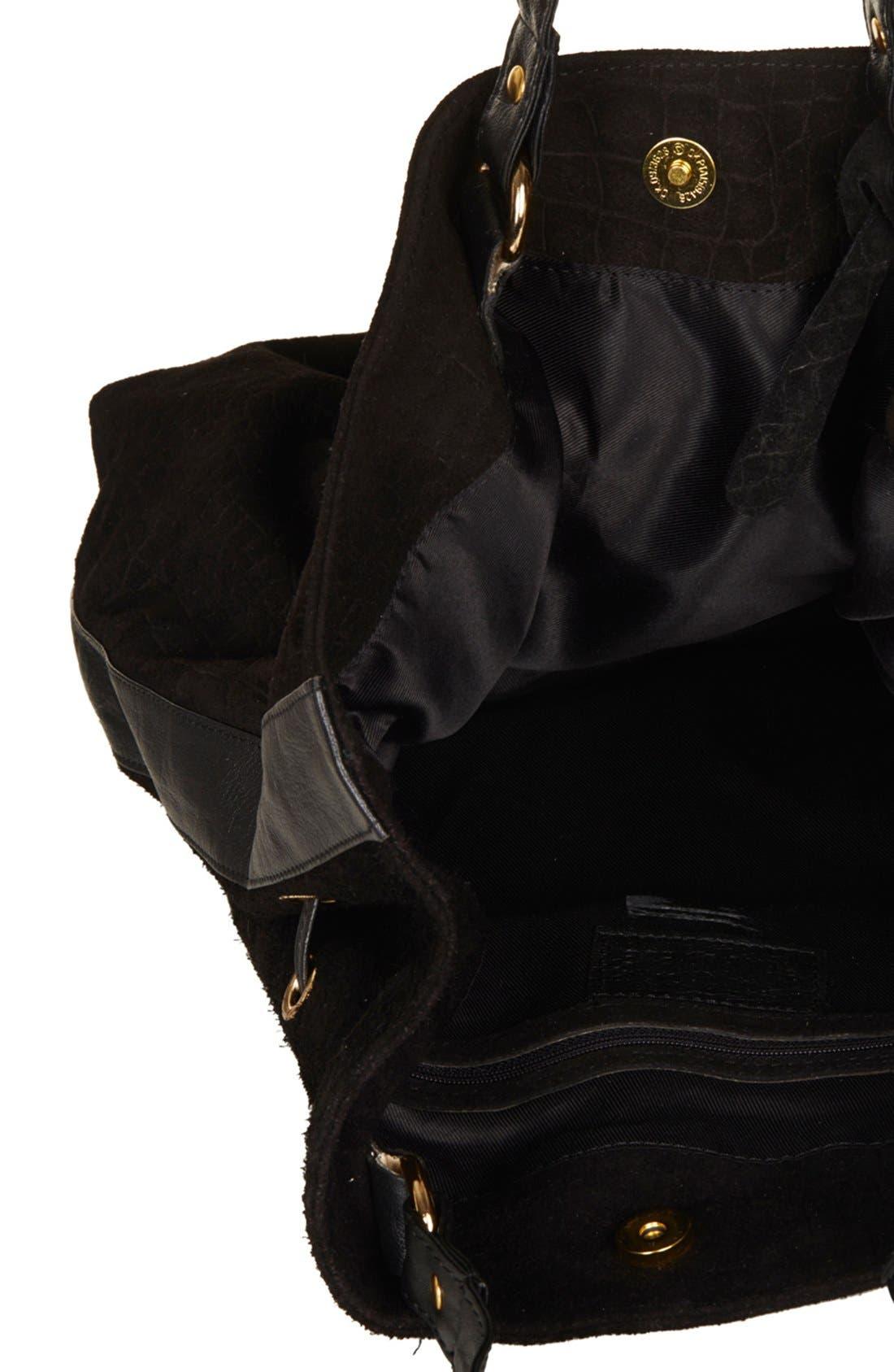 Alternate Image 3  - Topshop Croc Embossed Suede Duffel Bag