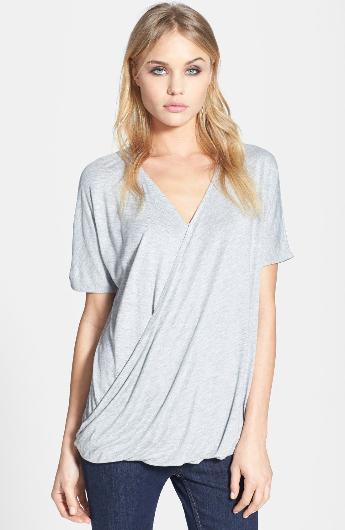 Alternate Image 1 Selected - Topshop Drape Front Tee